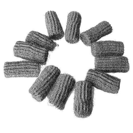 Efanty - Juego de 12 Almohadillas Flexibles de Acero para Limpiar ...