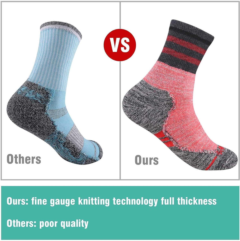 FEIDEER Chaussettes de randonn/ée pour femme avec coussin d/évacuation confortables et respirantes pour femme Taille 3 11 2//3 paires