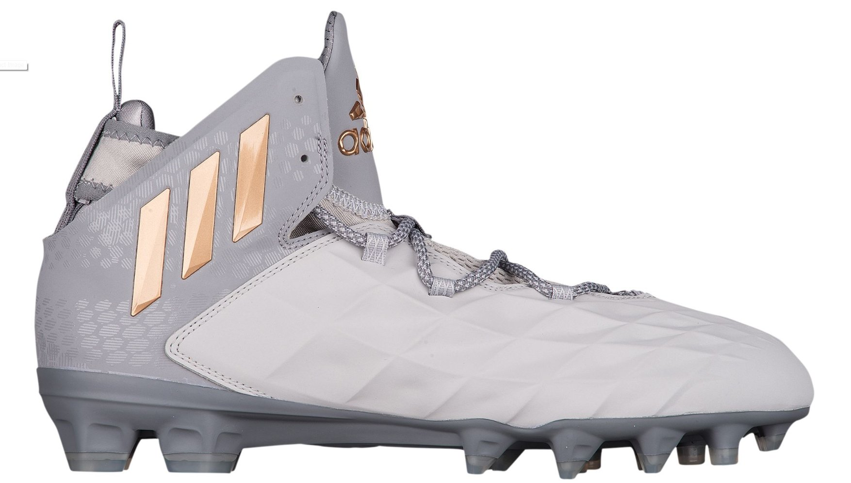 adidas Freak Lax Mid Cleat - Unisex Lacrosse 13 Grey/Copper Metallic/Dark Grey