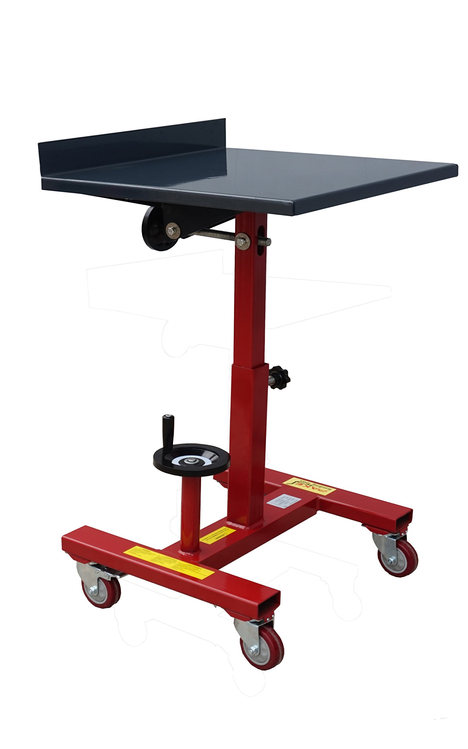 Pake Handling Tools - Tilting Work Table, 300 lbs Capacity, 24x24'', 31.5 to 42'' Height, 30 Degree Tilting