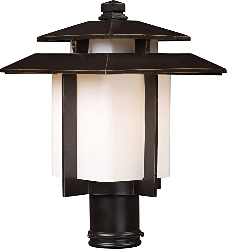 Kanso 1 Light Outdoor Pier Mount in Hazelnut Bronze