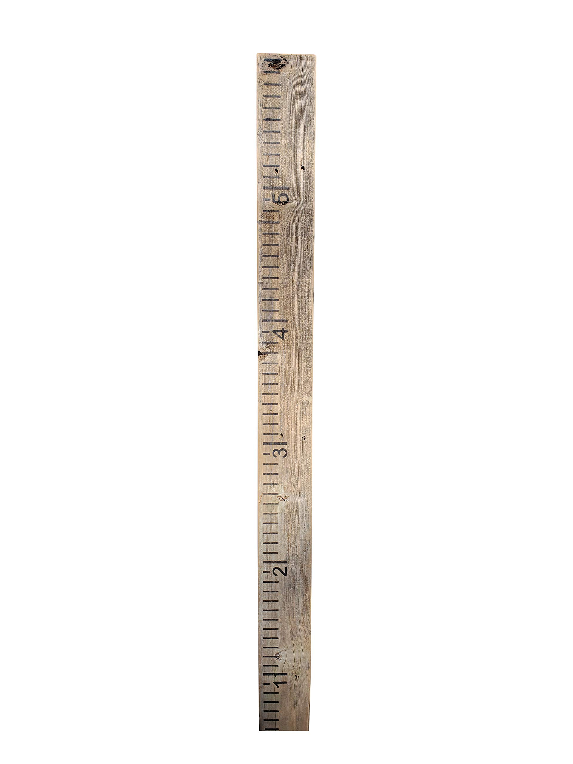 Growth Chart for Kids Made from Reclaimed Rustic Wood - Hand Painted - No Vinyl (Weathered Grey)