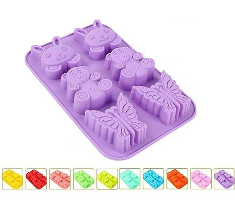xibeitrade silicona de horno para magdalenas Cupcake Moldes de Pastel (paquete de 10 unidades)