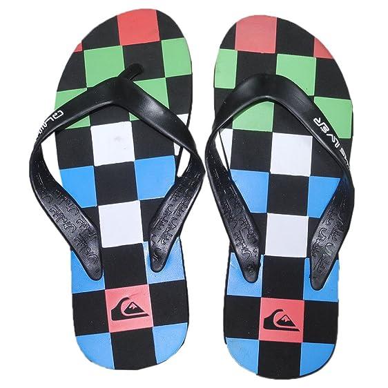Quiksilver Mens Rubber Thongs Sandals Beach Flip Flop Slippers