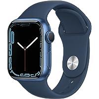 $399 » Apple Watch Series7 GPS, 41mm Blue Aluminum Case with Abyss Blue Sport Band - Regular