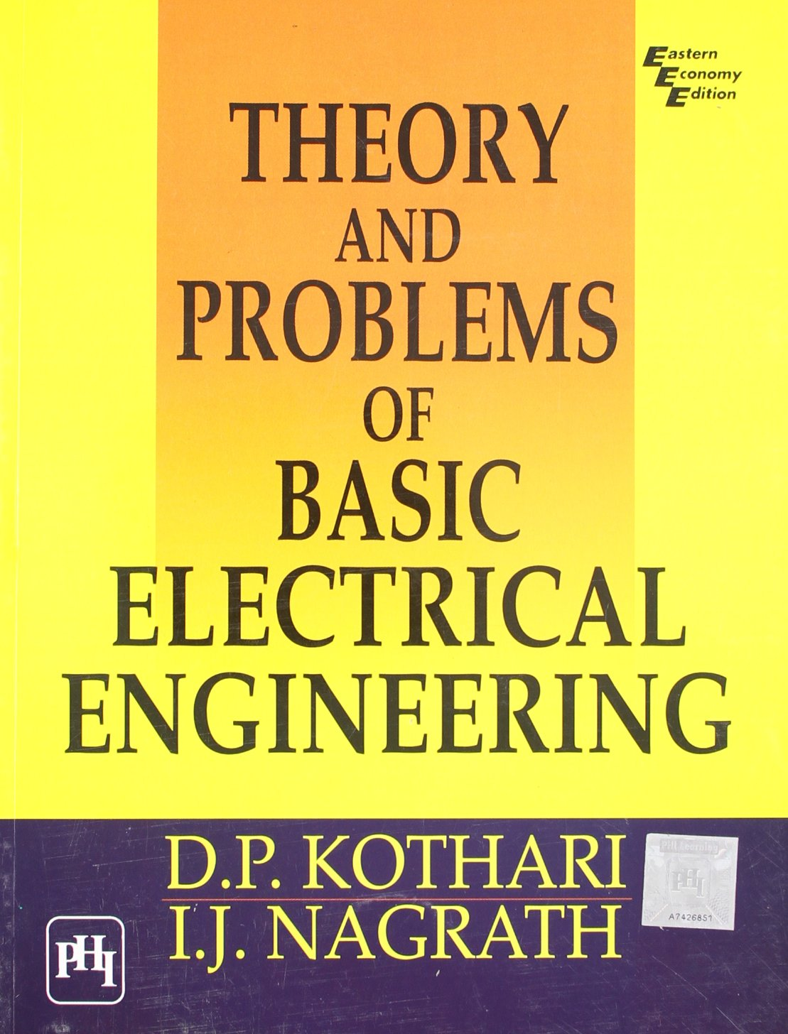 Theory And Problems Of Basic Electrical Engineering D P Kothari