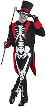 Boys Mr Bone Jangles Skeleton Day Of The Dead Halloween Fancy Dress Costume