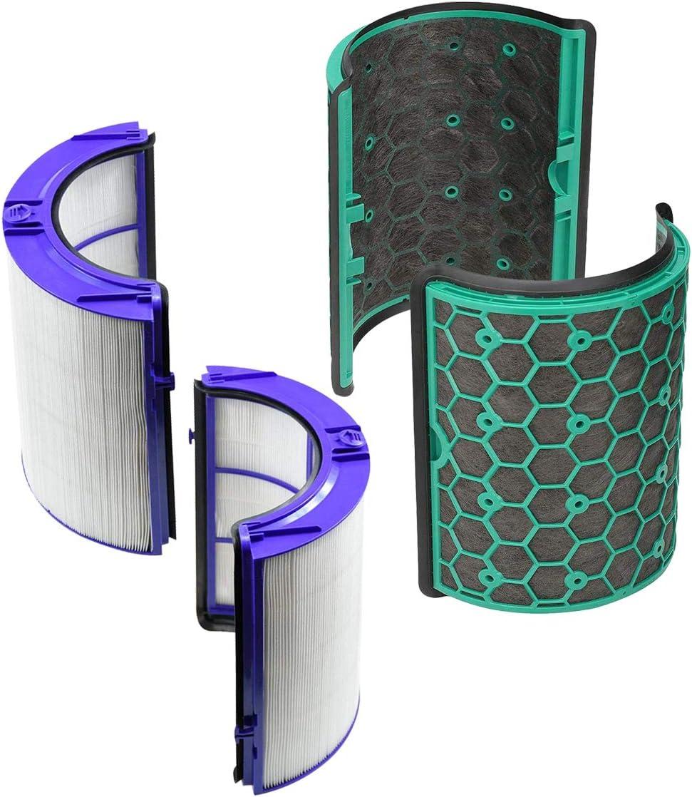 REYEE Pure Cool purificador de vidrio HEPA y filtro de carbón ...