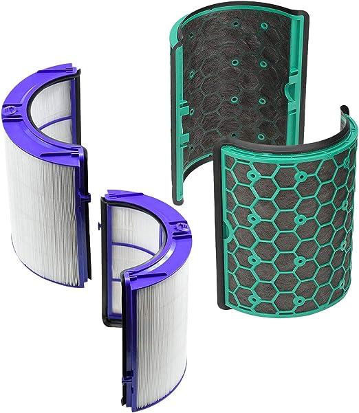 REYEE Pure Cool purificador de vidrio HEPA y filtro de carbón activado interior para Dyson DP04 HP04 TP04: Amazon.es: Hogar