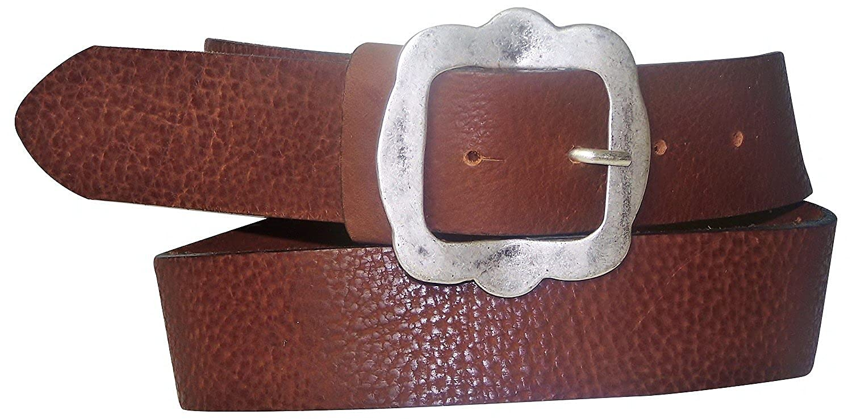 FRONHOFER Trachtengürtel echt Leder Gürtel Trachten Landhaus-Stil | Oktoberfestgürtel 130502 , Größe:Bundweite 120 cm, Farbe:Braun