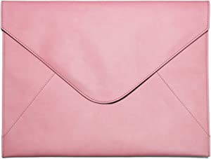 Bellagenda 13.5 inch Laptop Sleeve | Sleeve for Old MacBook Pro | Surface Laptop | Document Envelope | Fits for 13.5 to 14 inch Laptop | Water Resistant | Pen Holder (13.5-14 inch, Rose Pink)