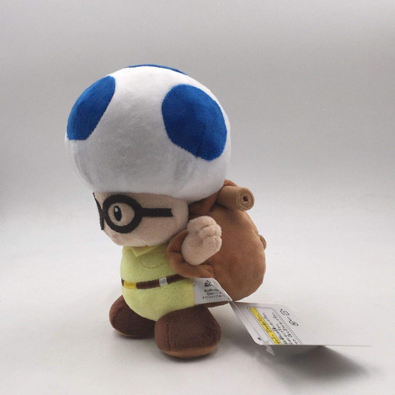 Yijinbo Lot de 2 Peluches Super Mario Bros Captain Toadette en Peluche avec Sac /à Dos traqueur de tr/ésors 20,3 cm