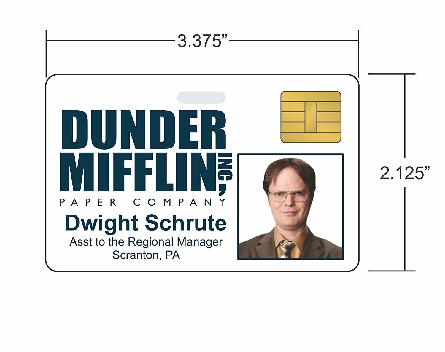 This is an image of Adorable Dwight Schrute Id Badge Printable
