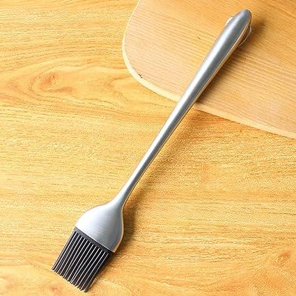 Leicht zu reinigen 2x Milopon /Ölb/ürste Backpinsel Grillpinsel BBQ Barbecue Pinsel Silikonborsten und Edelstahlgriff