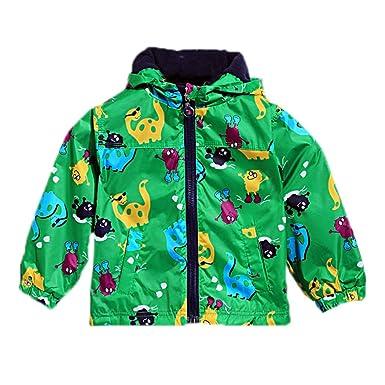 dcd032f7efd9 Arshiner Boy Baby Kid Waterproof Hooded Coat Jacket Outwear Raincoat ...