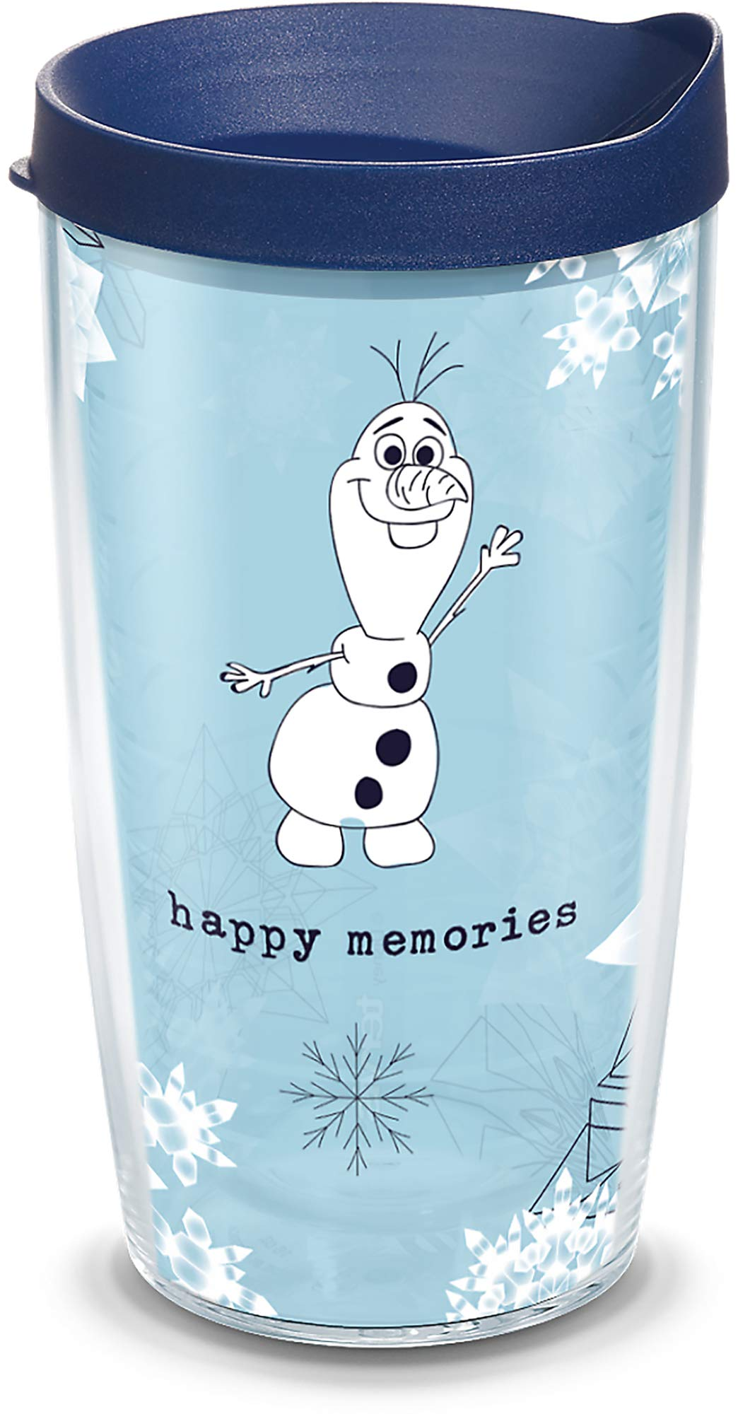 Tervis 1330427 Disney Frozen 2 Olaf BPA Free Insulated Travel Tumbler with Wrap & Lid, 16 oz - Tritan, Clear by Tervis