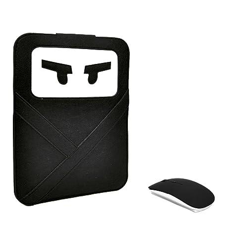 Unik Case - 2 in 1 Bundle-Ninja Black Laptop Sleeve Bag Case Cover with Black USB Optical Mouse for All 13