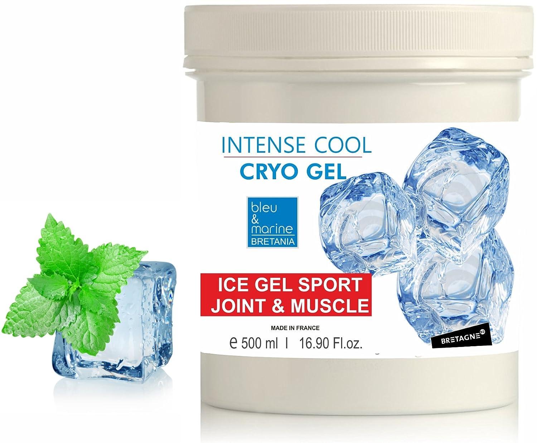 Intense Cryo Gel ● Professional Triple Action Formula Cooling Gel ● Muscle Rub Gel ● by bleu&marine Bretania, 500 ml Made in France