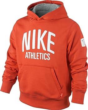 Nike niños sudadera con capucha YA76 Campus FT OTH sudadera con capucha para niño Rojo team orange/dk grey heather Talla:S: Amazon.es: Deportes y aire libre