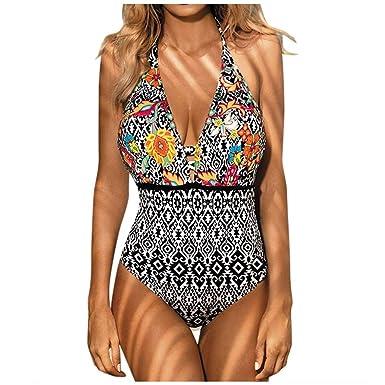 più amato 322b4 690b9 Costumi da Bagno Interi Donna Push Up VJGOAL Costumi da Bagno Donna Intero  Modellante Imbottitura Costume da Bagno Donna Vita Alta Jeans Costumi ...