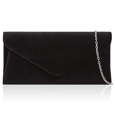 7ed96de099807 Xardi London Black Velvet Women Velvet Clutch Bag Bridal Envelope Ladies  Evening Shoulder Handbags New