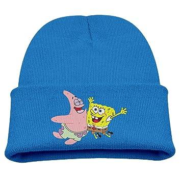 34688122a3948 Spongebob Warm Winter Hat Knit Beanie Skull Cap Cuff Beanie Hat Winter Hats  Kids