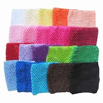 Running Headband Baby Crochet Mixed Hair Bands Elastic Girl Colors
