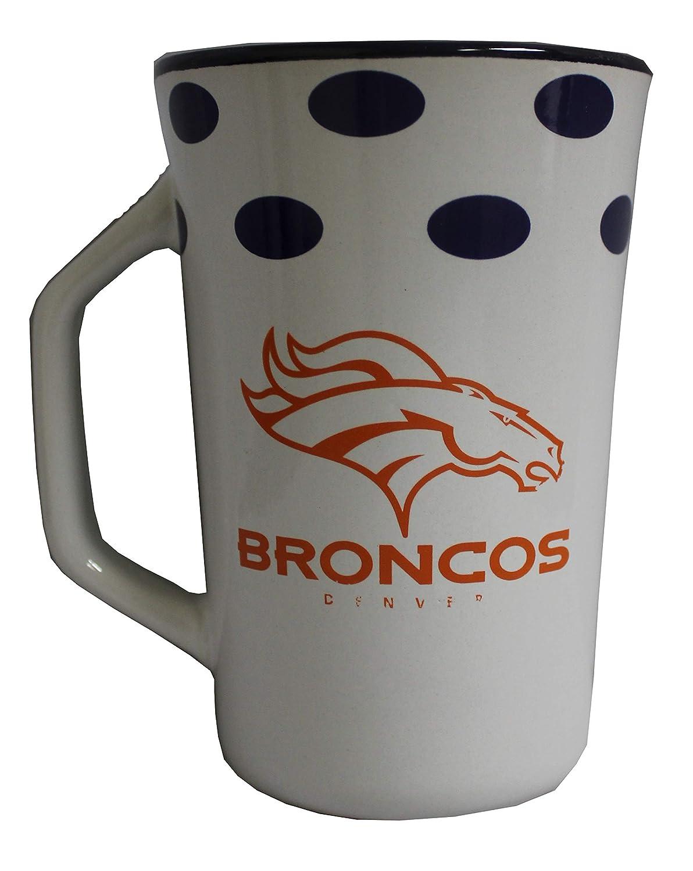 Boelter Denver Broncos 14 oz Polka Dot Ceramic Mug
