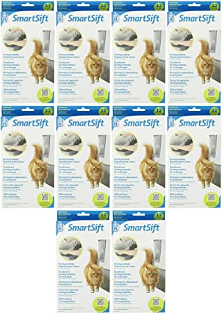 Amazon.com : Catit SmartSift Replacement Liners for Cat Pan Base 120pk (10 x 12pk) : Litter Box Liners : Pet Supplies