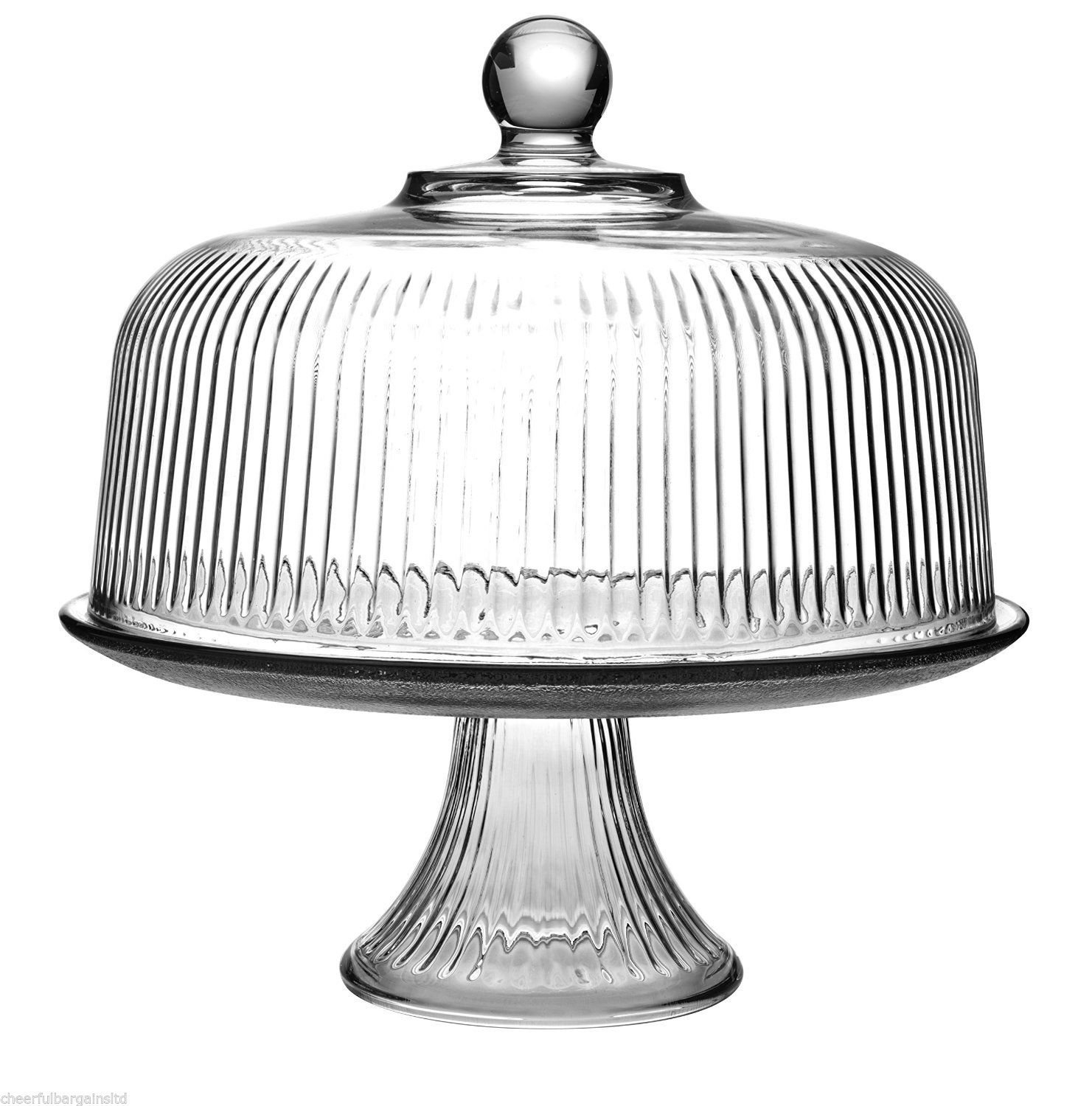 Multifunctional GLASS Cake Stand and Dome