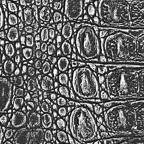WallFace 13521 CROCO Wall panel textured 3D interior decor luxury wallcovering self-adhesive black silver | 2,60 sqm by Wallface (Image #7)
