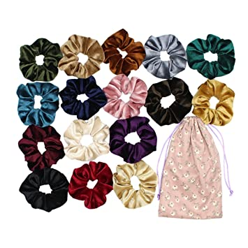 Amazon.com   Velvet Hair Scrunchies Set 8728117158f