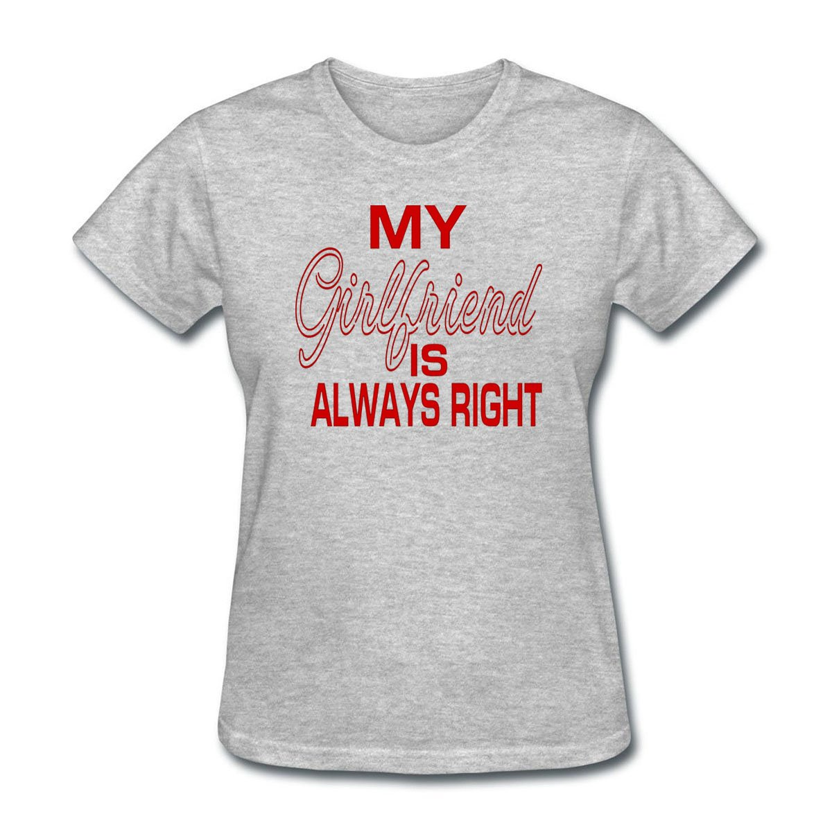 80f24379 Amazon.com: FPPING Women's My Girlfriend is Always Right T-Shirt: Clothing