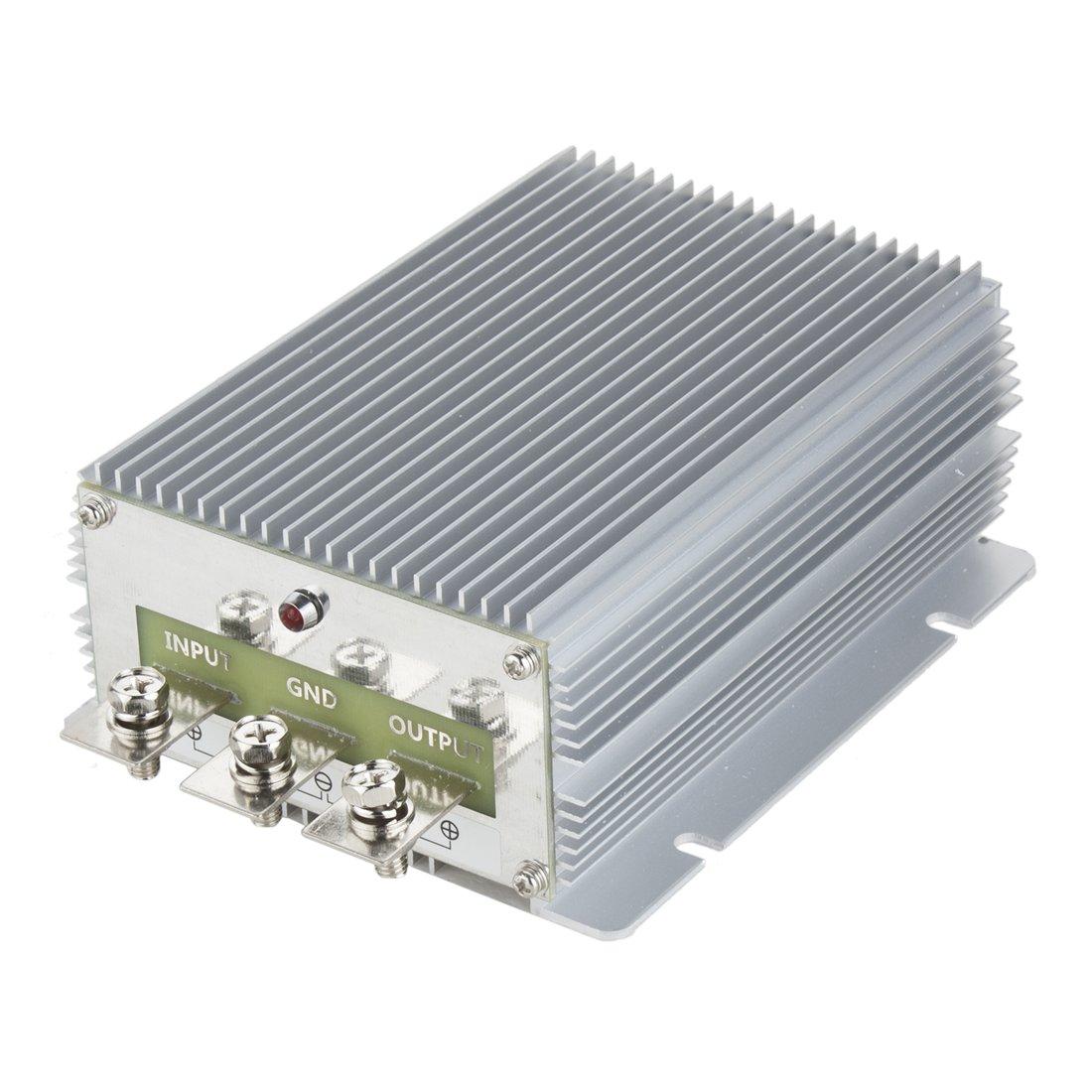 uxcell Power Voltage Converter Regulator DC 24V Step-down to DC 12V 60A 720W Car Truck Power Buck Transformer