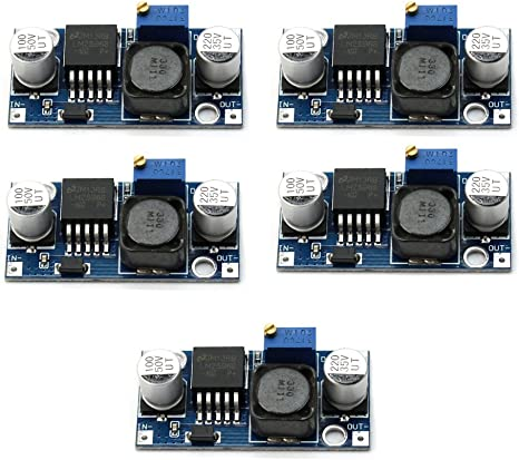 5Pcs DC-DC 3V-35V to 4V-40V Step Up Module Adjustable High Power Boost Converter