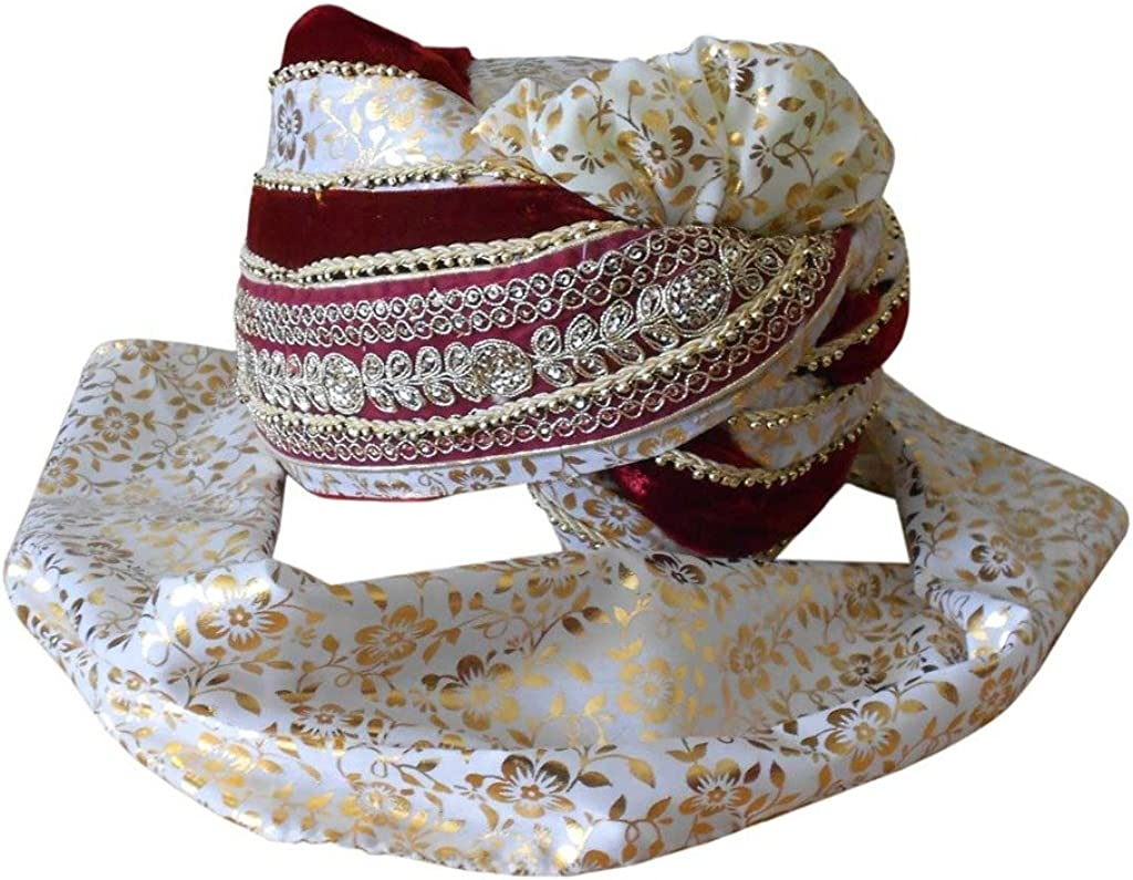 Men Hat Indian Sherwani Safa Groom Turban Handmade Top Hat Wedding Multi-Color Pagri Traditional Pag