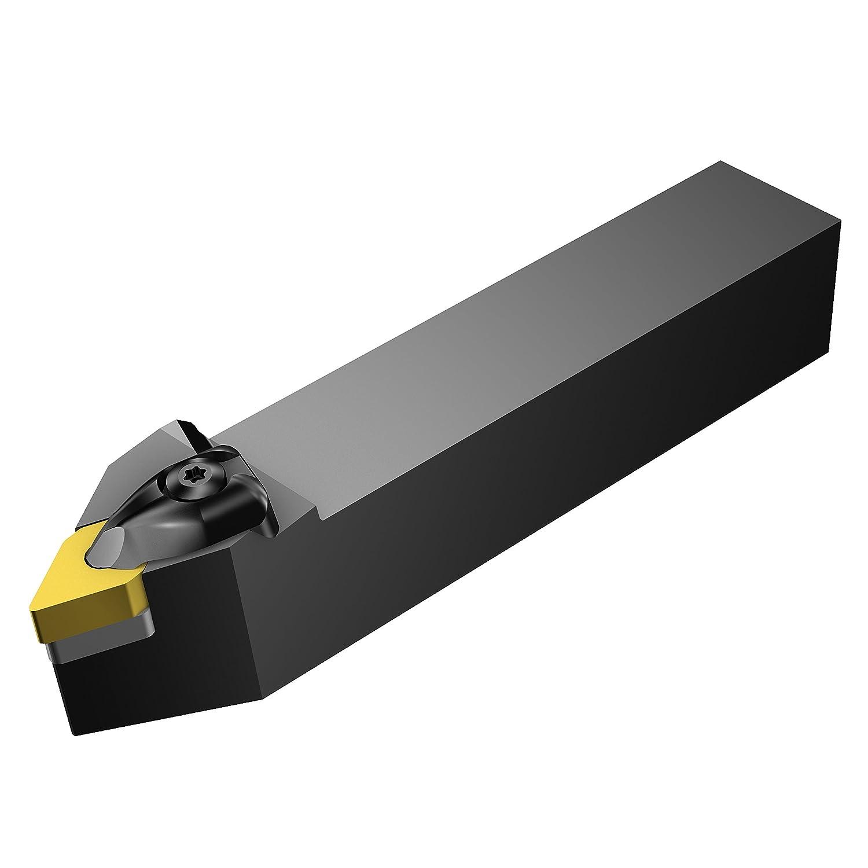Rigid Clamp Square Shank 40mm Width x 40mm Height Shank External DNMG 442 Insert Size Steel 62.5 Degree Entering Angle Sandvik Coromant DDNNN 4040S 15 Turning Insert Holder 250mm Length x 20.5mm Width Neutral