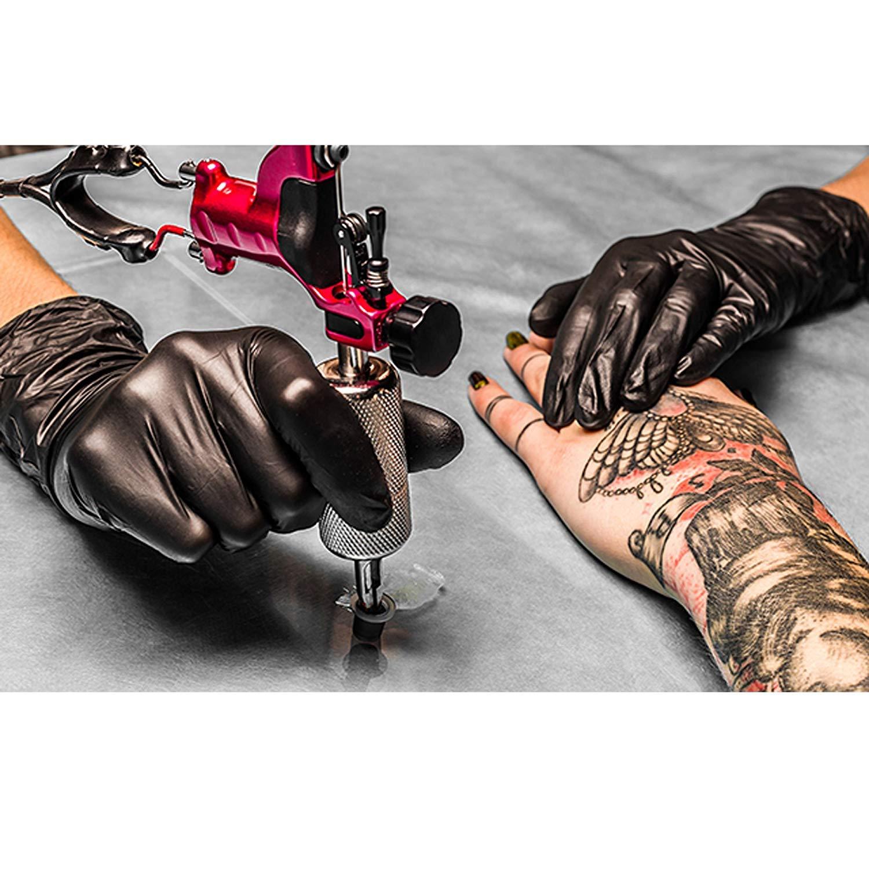 Palucart black nitrile gloves 100 pieces disposable mechanic gloves beautician size M medium