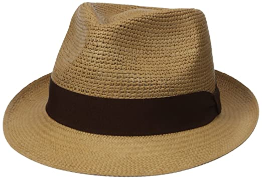 99e1905b7 Henschel Men's Panama Straw Fedora with 2