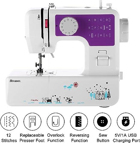 Meditool - Máquina de coser multifunción de doble hilo y velocidad ...