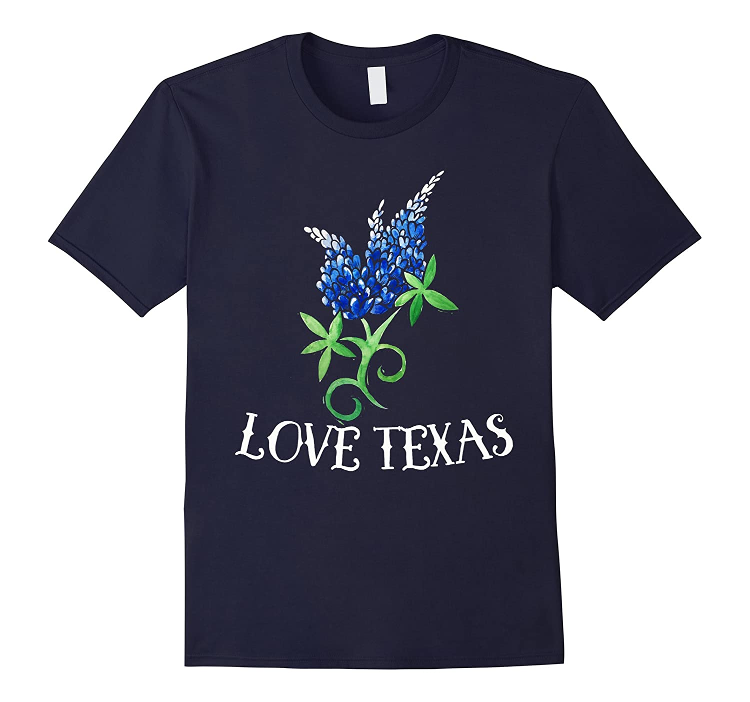 Love Texas t-shirt Texas bluebonnets art tee shirt texan-BN