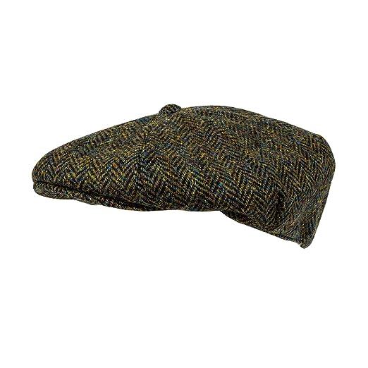 3e10eff1 Heather Hats Men's Arran Harris Tweed 8-Pc Cap Hat Dark Green (M) at Amazon  Men's Clothing store: