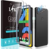 [2+3 Pack] LϟK Compatible for Google Pixel 4a 5.8 inch [Not for Pixel 4a 5G 6.2 inch], 2 Pack Tempered Glass Screen Protector