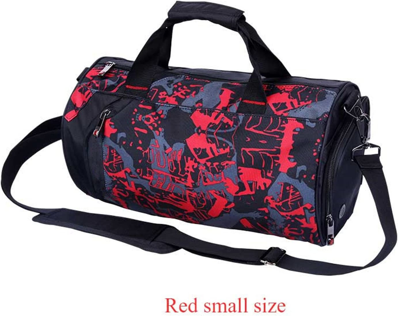 Paddy Meredith Waterproof Gym Bag Fitness Training Sports Bag Portable Shoulder Travel Bag Independent Shoes Storage Basketball Bag Black Big
