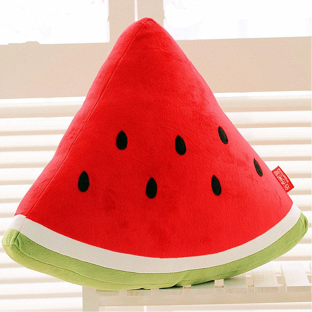 CrazySell Secuaces Kawaii sandía frutas cojín muñeca de peluche frutas verduras suave cojín para oficina en casa sofá muebles decoración cognición juguetes aprendizaje juguetes almohadas