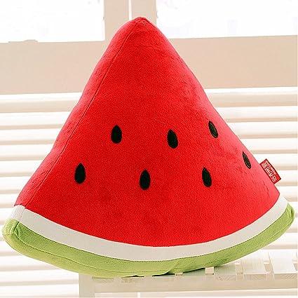 CrazySell Secuaces Kawaii sandía frutas cojín muñeca de peluche frutas verduras suave cojín para oficina en