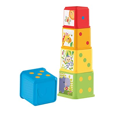 Fisher-Price Stack and Explore Blocks: Toys & Games