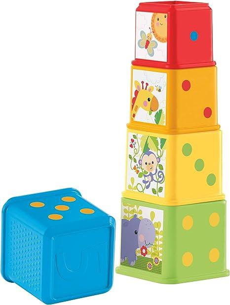 Fisher-Price Bloques apila y descubre, juguete bebé (Mattel CDC52 ...