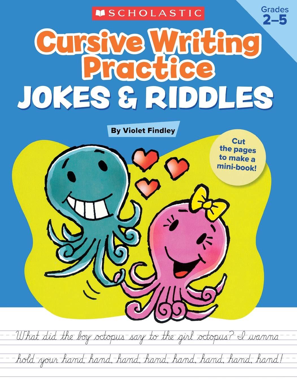 Download Cursive Writing Practice: Jokes & Riddles pdf