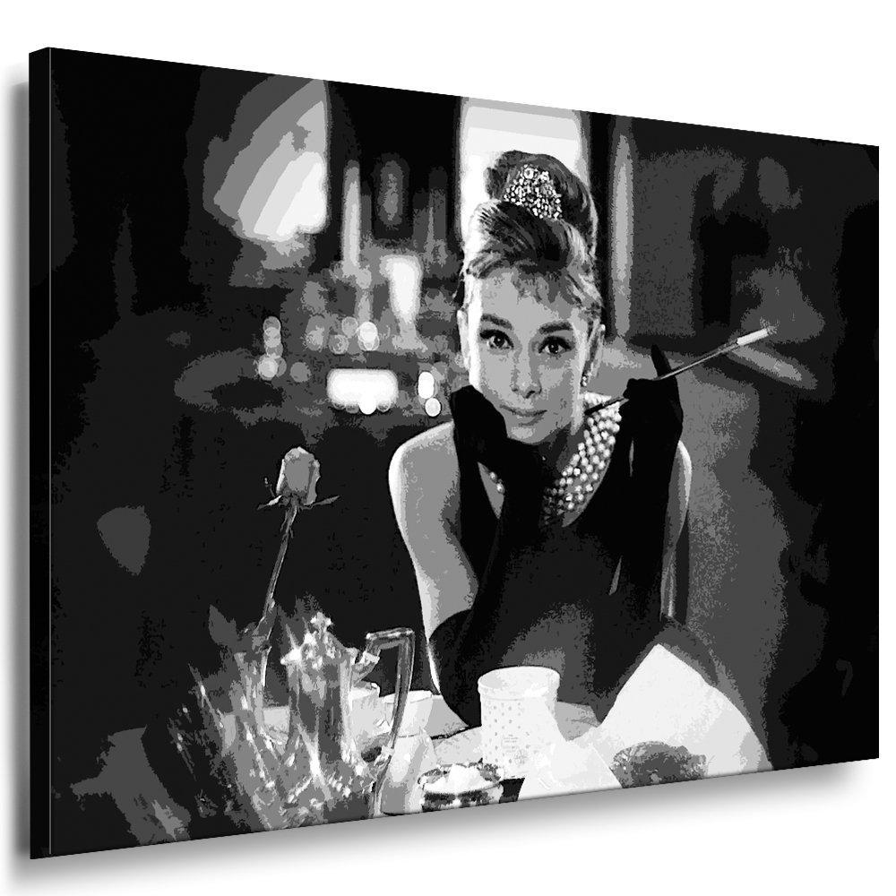 BILDER AUDREY HEPBURN Filmszene Leinwand Bild XXXL Format 80 x 120 cm   Wandbilder 10 Motive Wählbar   KEILRAHMENBILD  Kein POSTER, FOTOGRAFIEN ODER PLAKAT  Grosse LEINWANDBILDER  AH-01-69